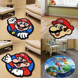 Super Mario Runde Teppichboden Teppich Kinderzimmer Stuhl  Gartenboden-Auflage-Matte Küche Wohnzimmer Anti-Rutsch-Teppich 3D-Teppiche