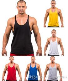 homens do exército Desconto Homens stly verão em branco longarina y volta 100% top de algodão tanque ginásio musculação roupas camisa de fitness coletes esportes músculos tops