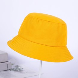 Summer new Korean version of the light board solid color fashion fisherman  hat men and women personality outdoor Bucket hats 3b64efb66632