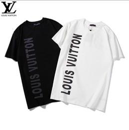 camiseta de la calle desgaste Rebajas 2019 VL Diseñador de la marca Camisetas Summer Street Wear Tees Moda de alta calidad Louis Letter Print Tshirt Hombres Casual Algodón Tops Tees Camisas