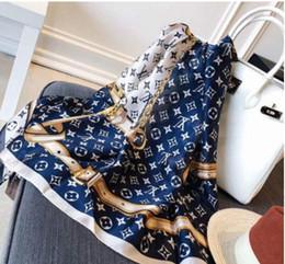 2019 inde foulard en gros Gros-2019 Top design écharpe en soie dames écharpe de marque de luxe douce super longue écharpe Designer Neck Réchauffez Noël femmes
