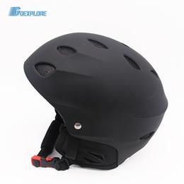weibliche helme Rabatt Goexplore Skihelm Herren Damen ABS + EPS Ultraleichtintegration 17 Loch Ski Extremsport Snowboard Skateboard Helm Herren