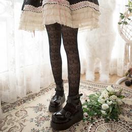 collant giapponesi Sconti Estate giapponese sexy donne maglia calze calze collant donna pizzo donna calze di seta scava fuori stretto donna XWZ-L036