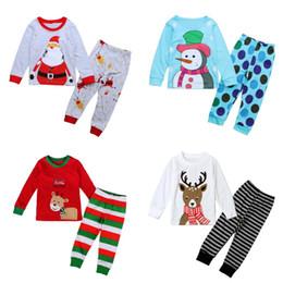 pijamas de natal para crianças 3t Desconto Crianças natal pijamas criança dos desenhos animados do boneco de neve pijama set infantil top de natal t-shirt calças calças conjuntos de pijama
