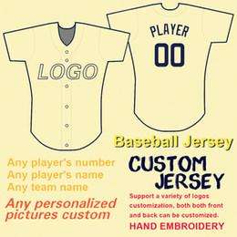 camisas feitas sob encomenda dos jérseis de basebol Desconto 2019 Custom Baseball Jerseys Das Mulheres Dos Homens Das Crianças Pessoal Qualquer Nome de Equipe Número 100% Costura Flex Base de Estilo de Base Legal