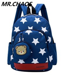 little gold bag Promo Codes - NEW Cute Little Stars Children's Backpack Lovely cartoon School Bags For Boys Girls kindergarten bag baby bags 4 colors