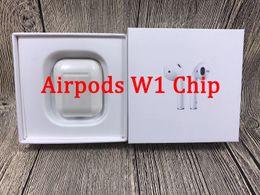 Bluetooth batteriekopfhörer online-Animation Angezeigt Supercopied W1 Chip Bluetooth Doppel-Kopfhörer für Airpods Headset-Touch Voice Control Top Klangqualität High Level Batterie