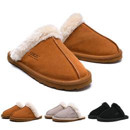 zapatillas de invierno para mujer Rebajas UGG Boots Mujeres Diseñador Sandalias de Moda Sandalias de Plataforma Pisos de lujo Diapositivas Zapatillas Para Mujer Australia Invierno Botas Casual de Interior 36-41