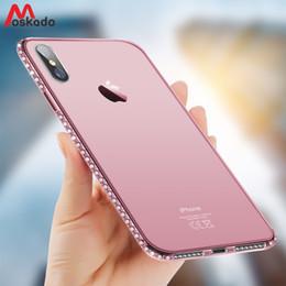 Moskado Telefon Kılıfı Için iPhone 7 X XR XS MAX 8 6 6 s Artı 5 SE Moda Bling Elmas Şeffaf Kristal Yumuşak TPU Arka Kapak Kılıfları nereden kristal bling telefon kapakları tedarikçiler