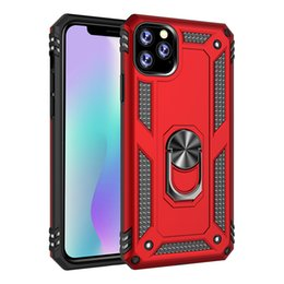 Caso do iphone para 5 on-line-Anel suporte à prova de choque Phone Case para iPhone 11 Pro Max 7 8 Plus X XR XS MAX Samsung Nota 10 LG Stylo 5