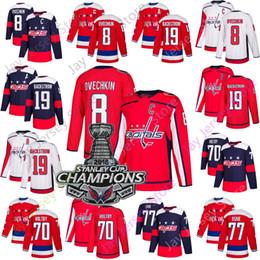 2019 camisetas de la serie del estadio Capitales de Washington Jersey 8 Alex Ovechkin Nicklas Backstrom Braden Holtby T. J. OSHIE Estadio Serie 2018 Stanley Champions Patch camisetas de la serie del estadio baratos