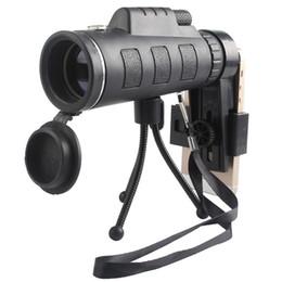 teleskop monokular für telefon Rabatt HOHE QUALITÄT Dual Focus 40X Teleskopobjektiv Teleskop 40x60 Optisches Zoom-Telefonhalter-Stativ für mobiles Mobiltelefon