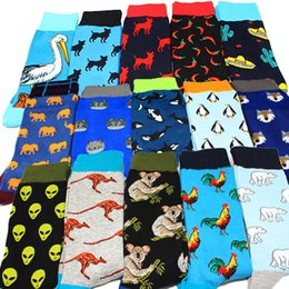 food socks Promo Codes - Cool Food Animal Hip Hop Crew Socks Funny Street Happy Socks Men Harajuku Divertidos Skateboard Chaussette Homme