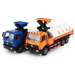construction sets toys Promo Codes - New 1:50 Alloy Watering car set Construction vehicle Car model collection Road sprinkler simulation sprinkling Child gift toy