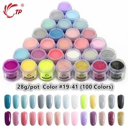 Wholesale 28g 1oz Dipping Powder French Nail Colorful Glitter Without Lamp Cure Natural Dry Dip Colors Nail Art Decorations Party Diy