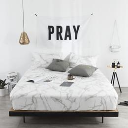 Lenço de cama duplo branco on-line-Folha de cama branca cinzenta cabida da folha com o tamanho elástico do russo Cama de cama branca cinzenta do colchão do linho da tampa de colchão do tamanho 120/150/180 / 160x200cm