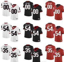 camisas de rugby da faculdade Desconto Personalizado Mens Juventude Georgia Bulldogs NCAA College Football Jerseys verde 8 Murray 11 Kublanow 54 Herrien Ramsey Conley Moore Swan 5