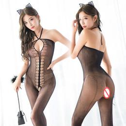 Lingerie Sexy Trajes Quentes Lace Underwear Sleepwear Virilha Aberta Meias Meias Casais Divertidos Brinquedos Em Jogos Para Adultos Para As Mulheres x7522 de Fornecedores de chinelos de renda meias