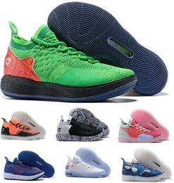 533015313c75 2019 Kd 11 Basketball Shoes Sneakers Men Women Green Eybl Still Emoji  Twilight Pulse Kevin Durant 11s XI Athletic Basket Ball Sports Shoes