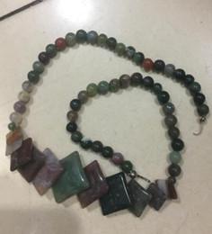 jóias da pérola da colar da moeda Desconto Jóias Colar de Pérolas 6-20mm Natural colorido India Onyx Moedas Pingente de Colar 17.5