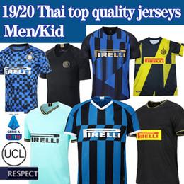 Camisa da inter de milão on-line-NEW 19 20 Inter de Milão Camisa Tailândia Lukaku ALEXIS Inter de Milão 2019 2020 Internazionale Milano camisas Maillot de camisas de futebol