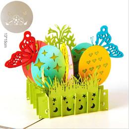 oeufs de papillon Promotion Papillon de Pâques oeufs bébé fille garçon anniversaire cadeau exquis créatif carte de voeux 3D enfants carte creuse