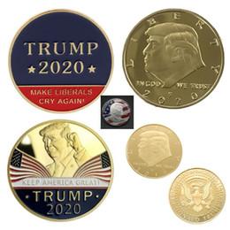 caneta de incenso Desconto 2020 Trump Moeda Comemorativa US Presidente Avatar Coleção da moeda de ouro de prata tornar a América Great Again Emboss Crafts HH9-2632