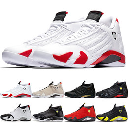 shoes 14 running Promo Codes - 14s Basketball Shoes 14 Men Candy Cane Desert Sand DMP The Last Shot Thunder Indiglo Black Toe Top Trainer Sport Sneakers Size 8-13