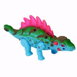 Электронные животные Suzakoo Ходьба Динозавр имитация модели животных загораются игрушки один шт. от Поставщики детские игрушки для динозавров