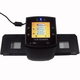Scanner per schede usb online-Mini 35mm Negative Film Scanner 5mp 10MP Resolution nero bianco Slide Digital scanner suport SDHC Card