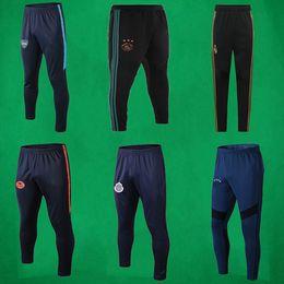trilhas esportivas Desconto 19 20 homens calças Real Madrid pista calça 2019 2020 AJAX calças de suor Adultos Chivas futebol calças calças Treinar