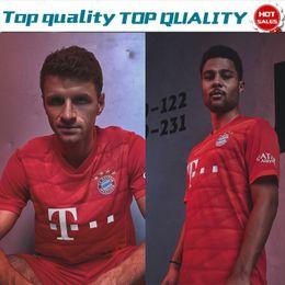 Трикотажные изделия футбола онлайн-2019 # 25 MULLER home Red Soccer Jersey Футболка 19/20 под заказ # 9 LEWANDOWSKI # 17 BOATENG Bayern Munich Футбольная форма в продаже