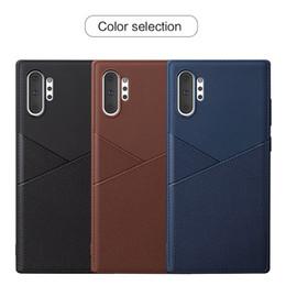 Premium Deri Tasarım TPU Cep Telefonu Kılıfları Samsung Galaxy Not Için 10 S10 Artı A40 A8 Xiaomi Mi9 Redmi Not 7 PU Kapakları nereden