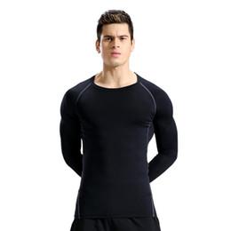 Medias de compresión de yoga para hombres Camisetas de fitness Manga larga Humedad que absorbe la camiseta de secado rápido Venta caliente desde fabricantes