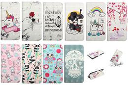 Carteras panda online-Funda de cuero con calavera 3D para Samsung Note 10 Note10 Pro A10E A20E Rose Unicorn Panda Swan Rainbow Heart Love Marble Holder Flip Cover