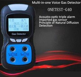 detector de gás portátil 4-in-1 para o CO, O2, EX, medição e alarme em espaços confinados H2S. de
