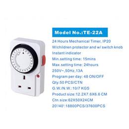 Argentina 24 horas plug-in de ahorro de energía programable temporizador mecánico con enchufe UK --M25 Suministro