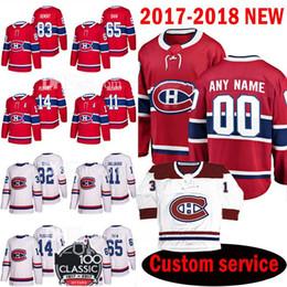0043f8448 Canadiens de Montréal 2018 personnalisés des Canadiens 83 Ales Hemsky  Maillot 65 Andrew Shaw 14 Tomas Plekanec 11 Brendan Gallagher Maillots 32  Mark Streit