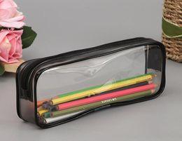 Пластиковые косметические пакеты онлайн-200 шт. ПВХ Косметичка Мешок Молния Школьники Прозрачный Водонепроницаемый Пластиковый Ящик Для Хранения ПВХ Ручка Мини Путешествия Сумки Для Макияжа