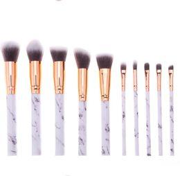 Lidschatten lippen online-Marmorieren Griff Make-up Pinsel 10 Teile / satz Professionelle Make-up Pinsel ye Schatten Augenbrauen Lippenauge Make-up Pinsel Comestic Tool KKA6798
