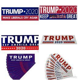 2019 parches de engranajes tácticos Etiquetas engomadas del coche de Donald Trump 2020 7.6 * 22.9cm Pegatina para el parachoques Mantenga a América gran calcomanía para el coche que labra Vehículo Paster 5 estilos