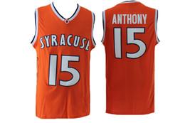 Argentina 2019 NCAA Cameron Syracuse 15 Anthony jersey Chaleco naranja Bordado negro uniforme de baloncesto Tela cómoda Ventas especiales cheap orange vests Suministro