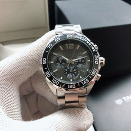 Часы f1 кварц онлайн-Red Bulls Designer F1 Swiss Watch 43mm 316L Steel Quartz Movement Sapphire Glass For Man Birthday Christmas Gift