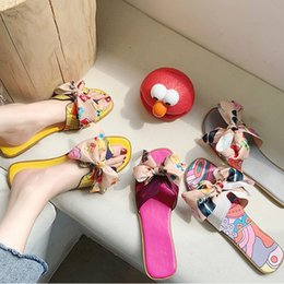 00812d084f 2019 H-style printing designer sandals summer latest high quality slip-on  Sandals women's shoes wide flat slippers with box