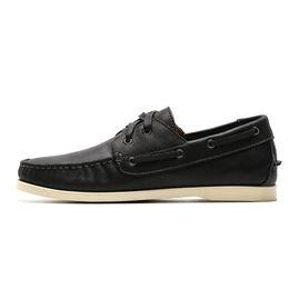 Canada Chaussures bateau Hommes Chaussures de sport en cuir noires Chaussures à deux œillets pour hommes Chaussures habillées du printemps Oxford confortables et confortables cheap eyelet dresses Offre