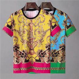 2019 печатная одежда 2019 красивая мужская футболка новый дизайнер весной и летом с коротким рукавом с принтом одежды M-3XL скидка печатная одежда