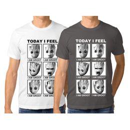 shorts de roupas galaxy Desconto Verão Designer camiseta 100% algodão Sinto que sou Groot Guardiões da Galáxia Mens Clothing camiseta manga curta Tops S-3XL