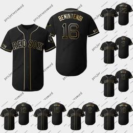 Бейсбольные майки бостон онлайн-Бостон 16 трикотажные изделия Andrew Benintendi 2019 Golden Edition 2 Xander Bogaertsi 15 Dustin Pedroia 18 Mitch Moreland Red Sox Бейсбольные майки