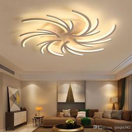 2020 luz de teto minimalista moderna Minimalista criativo moderno Led luzes de teto para sala de estar Quarto Branco Cor Início Led lâmpada do teto luminárias AC110V AC220V luz de teto minimalista moderna barato