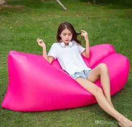 cadeaux disco pour enfants Promotion Vente chaude gonflable extérieure Lazy Couch Air Sleeping Bag Sofa Lounger Camping plage Lit Beanbag Canapé Chaise HHA57 2019 nouvelle